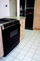 Metal appliances can be the cause of scratches in tile floors.
