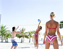 A flat volleyball can ruin a game at the beach.