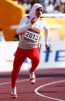 Ruqaya Al Ghasara of Bahrain competed in two Olympics while dressing modestly.