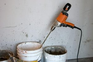 Mix plaster for at least three but no longer than five minutes.