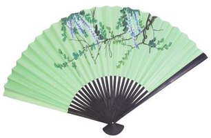 A silk fan can add to your home decor.
