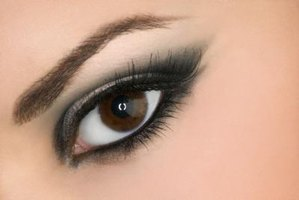 Dark eyeshadow creates a smoky, evening look