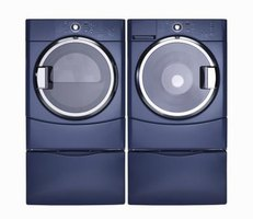 Pedestals are often available in designs and colors to match washers and dryers.