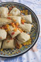 A plate of tamales.