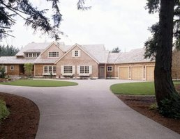 A maintained driveway adds to the visual appeal of a home.