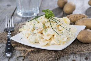 Choose low-starch potatoes for potato salad.