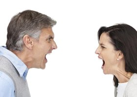 Don't respond to your parent's goading with anger. Instead, answer him positively and assertively.