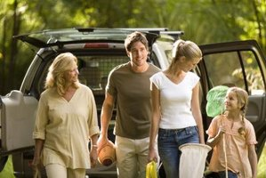 The Jeep Cherokee offers amenities to make your camping comfortable.
