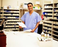 Most pharmacy technicians receive on the job training.