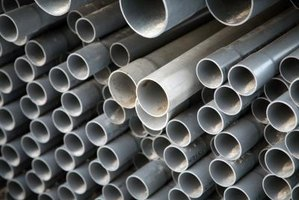PVC pipe is used for sewer lines in the home.