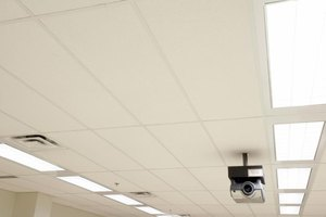 Low angle surveillance camera in office
