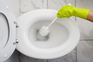 Clean your toilet bowl at least once a week to prevent stains.