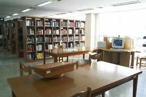 Interior of library.