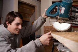 A miter saw offers the quickest way to make an accurate angle cut.