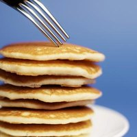 Baking powder makes pancakes fluffy.