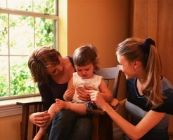 Allow your baby's caregiver see you interact with your child.