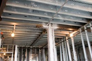 Metal beams are used in many building applications for their lightweight durability.