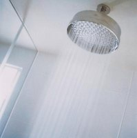 Ceiling mounted showerheads are often components of a multi-spray shower design.