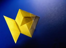 Origami shapes may appear like different objects depending on how it is viewed.