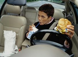 Food and drinks drip onto car seat covers, creating ugly stains.