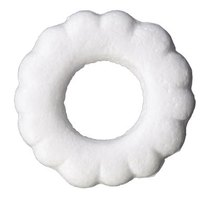 Foam wreaths come in round, square, heart and other shapes.