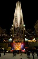 Rockefeller Center, New York City's unofficial holiday headquarters, is captivating at night.