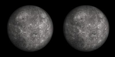 Temperature variations of about 611 degrees Celsius (1,100 degrees Fahrenheit) exist on Mercury.