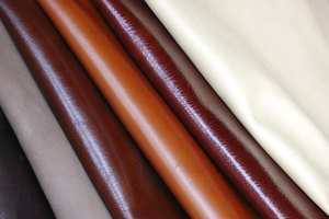 Close-up of deerskin leather fabric.