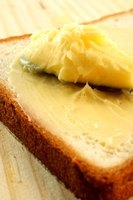 Spread fresh homemade butter on crackers or bread.