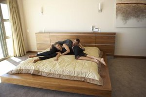 make your bedroom a custom creation by making your own bed frame