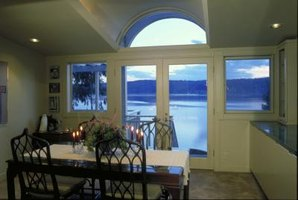 French doors offer less protection from the elements than a solid exterior door.