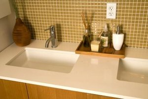 Thinset mortar lays a foundation for tile on walls, floors and counter tops.