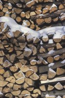 Construct a roof over your firewood to keep it dry when it rains and snows.