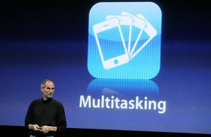 Use the Multitasking feature to toggle apps.