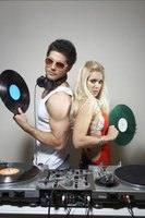 Record players and MP3 players are both used in the DJ world.