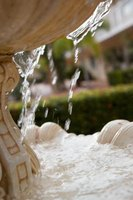 Fountains are delightful garden elements.