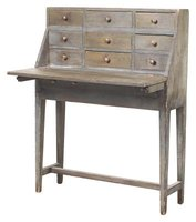 A coat of glaze can give a new desk an antique look, or an old desk new life.