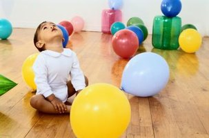 Babies should not play with balloons.