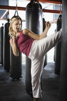 What you wear on your feet depends on the type of kickboxing.