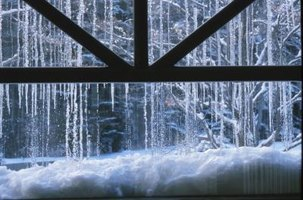 Temporary window treatments are an inexpensive way to save on heating costs in the winter.
