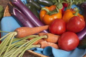 Fresh-picked vegetables add color and taste to summer meals.