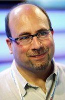 Craigslist founder Craig Newmark stands vigil against spam on his website.