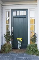 Highlight your front door with a contrasting accent color.