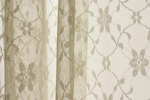 Lace curtains boomed in popularity during the latter portion of the nineteenth century.