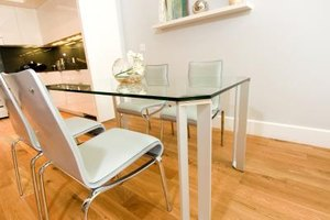Customize your decor with base ideas for glass table tops.