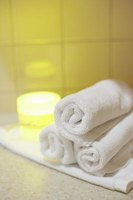 Terry cloth is often used in bath towels, robes and slippers.