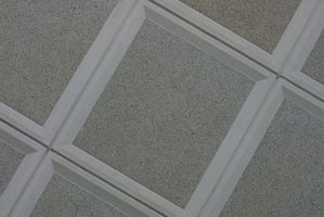 Ideas For Covering Up Old Ceiling Tiles Ehow