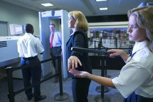 Security guards work in airports and other venues.