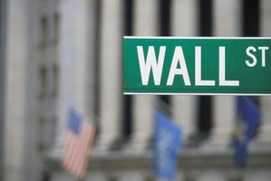 Close-up of Wall Street sign.