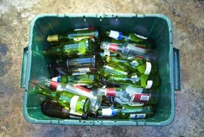 Recycled glass bottles, like these, might become a recycled glass countertop.